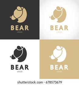 Bear logo design. Vector illustration