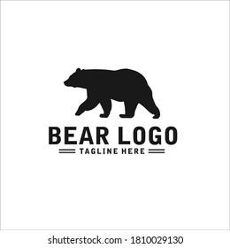 bear logo silhouette design icon vector