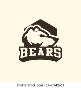 Bear logo template vector. Wild animal logo template