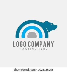 bear logo vector. animal logo template.