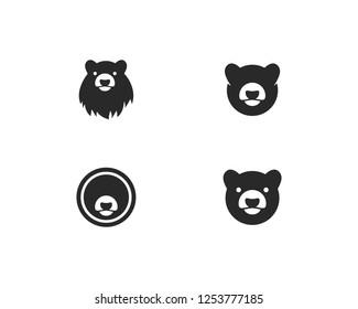 Bear logo vector template