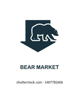 Bear Market icon. Creative element design from stock market icons collection. Pixel perfect Bear Market icon for web design, apps, software, print usage