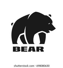 Bear, monochrome logo.