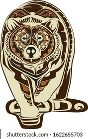 bear north west native americans style