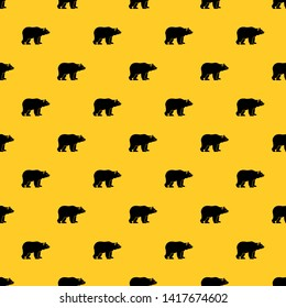Bear pattern seamless vector repeat geometric yellow for any design