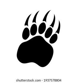 Bear paw footprint, vector illustration