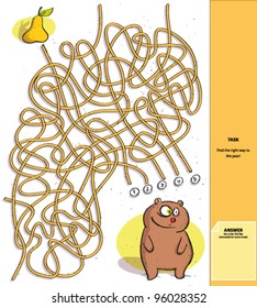 Bear and Pear : Maze Game with Solution