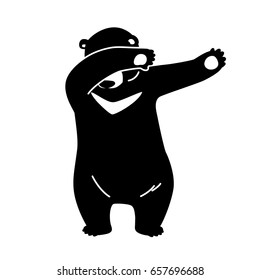 Bear Polar Bear Dab dance vector illustration