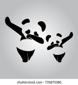 Bear Polar Bear Dab dance vector illustration panda dab raccon dab