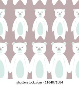 Bear polar bear teddy icon doodle pattern vector cartoon