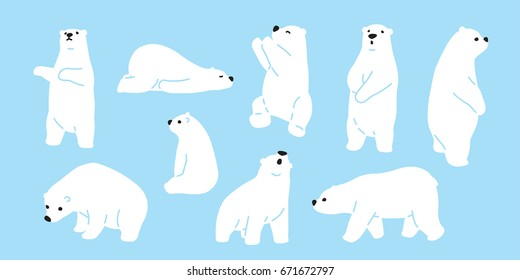 Bear polar bear teddy icon illustration doodle cartoon