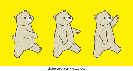 Bear polar bear vector illustration doodle cartoon brown