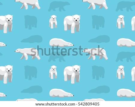 Bear Polar Wallpaper Stock Vector Royalty Free 542809405