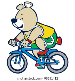 bear riding a bike