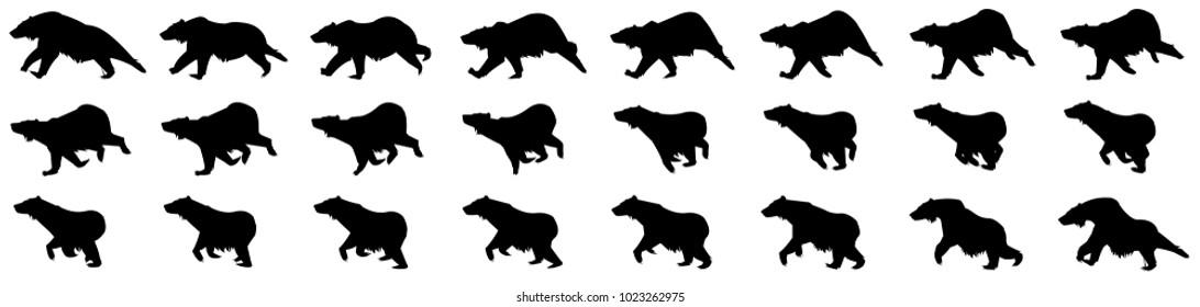 Bear running animation sprite sheet