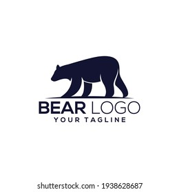 Bear silhouette logo vector animals illustration, bear icon modern symbol for graphic and web design