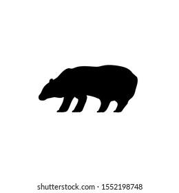 Bear silhouette vector icon black. Illustration logo bear design.