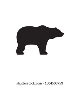 Bear silhouette vector, icon on a white background