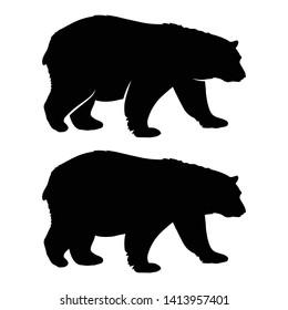 Bear silhouette. Vector illustration for your design