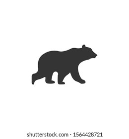 Bear silhouette vector on a white background