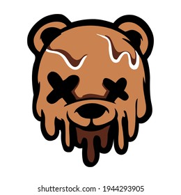 Bear Stretwear and Edgy Logos, in Brown for Commercial Use