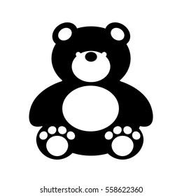 bear teddy toy isolated icon vector illustration design