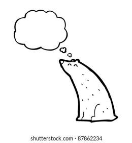 bear thinking cartoon