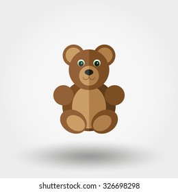 Bear toy. Vector illustration on a white background.
