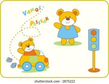 bear in traffic