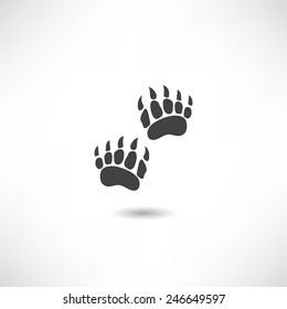 Bear trail icon