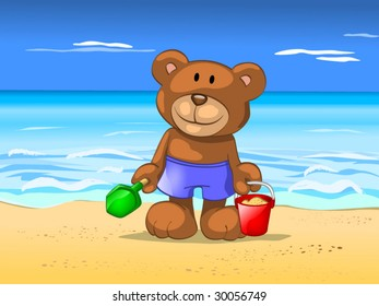 bear in vacation