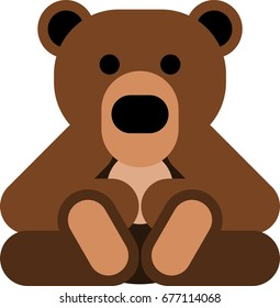 A bear vector art