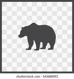 Bear vector icon. Isolated illustration. Business picture.