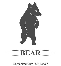 bear vector, bear rested, he thought, watching, white background, isolated. T - print