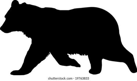 bear vector silhouette