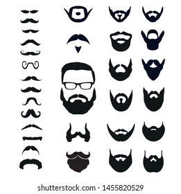 beard collection for men illustrator vector file