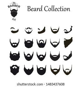 Beard Collection,The Barber shop,Vector illustration design