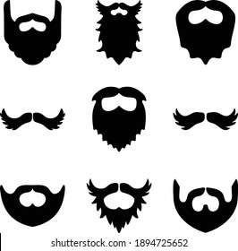 Beard And Mustache Icon Set