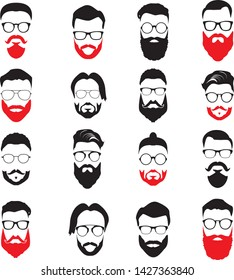 Beard Styles Icon Set Illustration