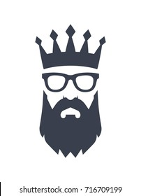 Bearded King with glasses.