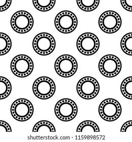 Bearing Icon, Ball Bearing Icon Seamless Pattern Vector Art Illustration