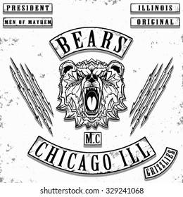 bears motorcycle gang jacket t shirt graphic design