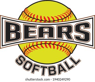 Bears Softball Graphic is a sports design which includes a softball and text and is perfect for your school or team. Great for Bears t-shirts, mugs and other products.