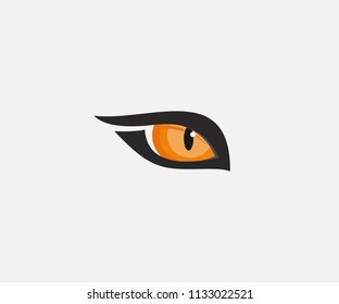 beast eyes logo icon vector