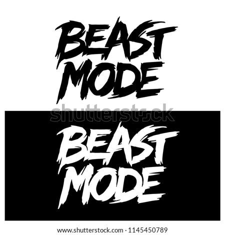 Beast mode hand drawn