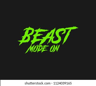 Beast Mode On Motivational Tee Graphic