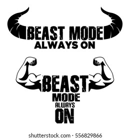 Beast Mode On vector graphic Illustration for T shirt Printing, Eps 10 Vector Eements.