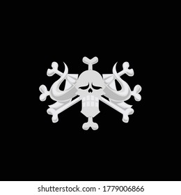 The beast pirate logo. Isolated vector