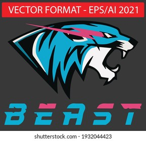 beast tiger logo inspiration vector good for gaming designs and tshirts and more , eps 2021