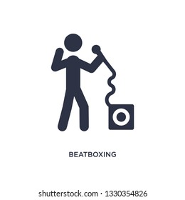 beatboxing icon. Simple element illustration from activity and hobbies concept. beatboxing editable symbol design on white background. Can be use for web and mobile.